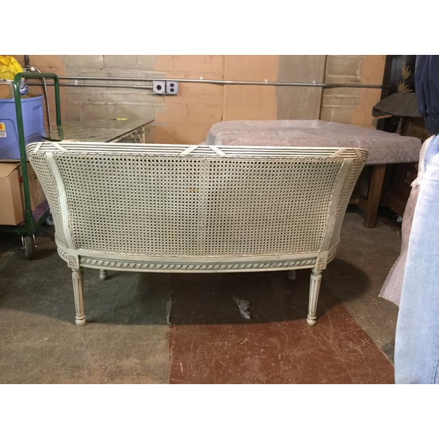 Louis XVI-Style Caned Settee - Image 3 of 5