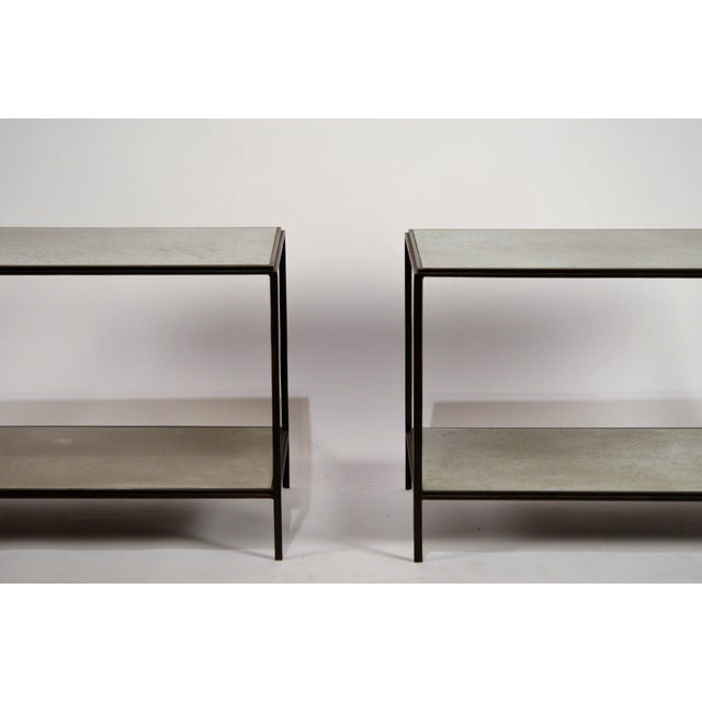Modern 'Rectiligne' Mirrored End Tables by Design Frères - a Pair For Sale - Image 3 of 9