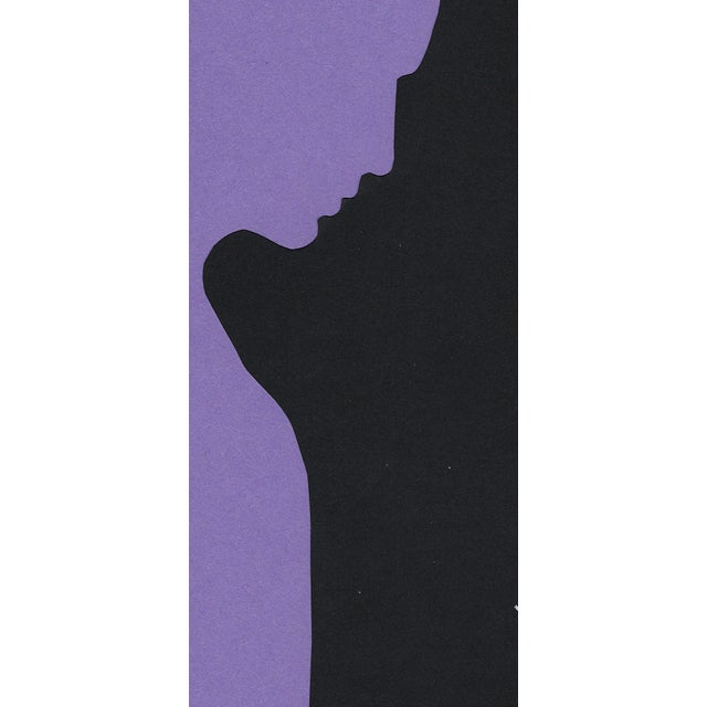 "Contemporary ""Profile 3 - Purple"", Minimalist Collage by Sarah Myers For Sale - Image 3 of 8"
