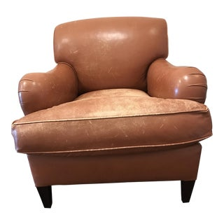 George Smith Club Chair & Matching Ottoman - A Pair
