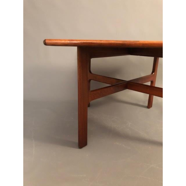 Mid-Century Modern D.Mcguire Mid-Century Walnut Coffee Table For Sale - Image 3 of 8