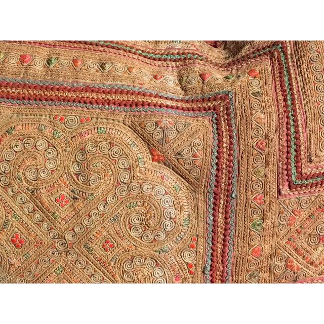 Boho Chic Vintage Thai Applique Pillow For Sale - Image 3 of 5