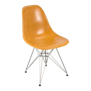 Ochre Eames Shell Chair on Nickel Eiffel Base