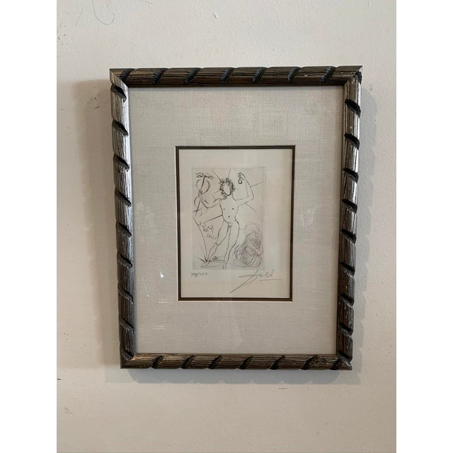 """1968 Salvador Dali Framed Etching """"Mercury"""" For Sale In Los Angeles - Image 6 of 6"""