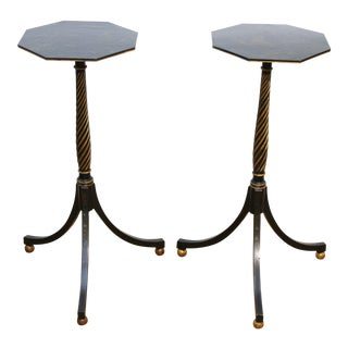 English Regency Style Chinoiserie Side Tables For Sale
