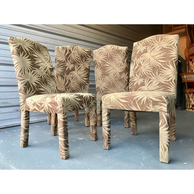 Vintage Palm Beach Parson Chairs - Set of 4 For Sale - Image 9 of 9