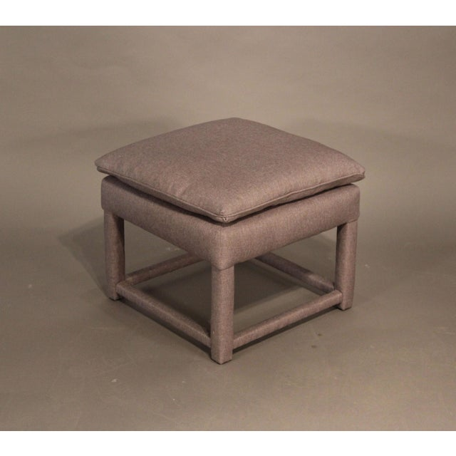 Upholstered Parsons Style Ottomans - Pair - Image 3 of 6