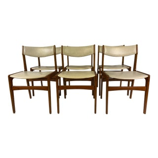 1960s Erik Buch Teak Dining Chairs - Set of 6 For Sale