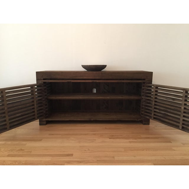 Restoration Hardware Slatted Door Sideboard - Image 4 of 7