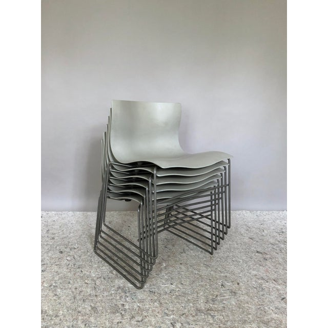 """Fiberglass Massimo Vignelli for Knoll """"Handkerchief"""" Chairs - Set of 4 For Sale - Image 7 of 12"""