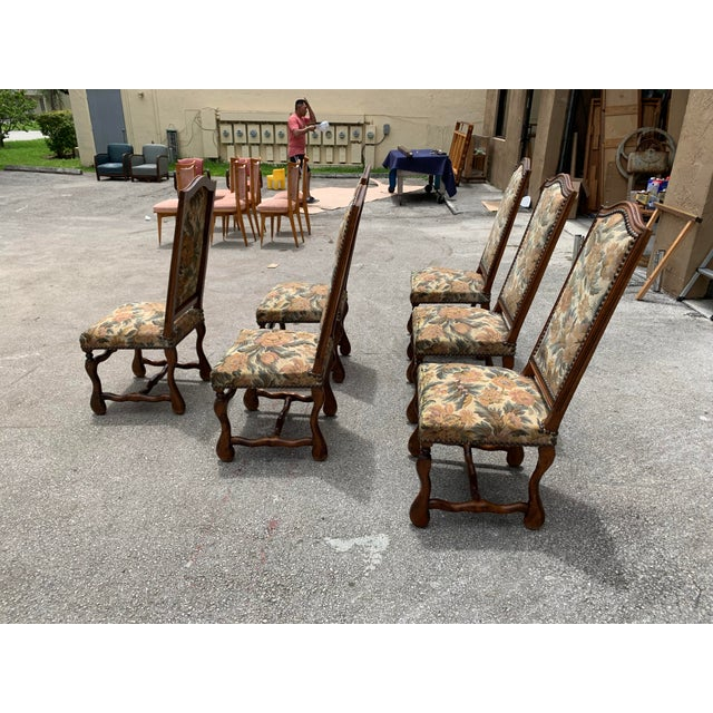 1900s French Country Louis XIII Style Os De Mouton Dining Chairs - Set of 6 For Sale - Image 9 of 10