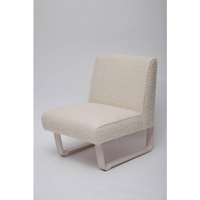 """Bauhaus Edward Wormley """"Modern Morris"""" Bleached Mahogany Slipper Chair For Sale - Image 3 of 9"""