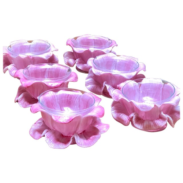 Art Glass Murano Glass Bowls - Set of 6 For Sale - Image 7 of 7