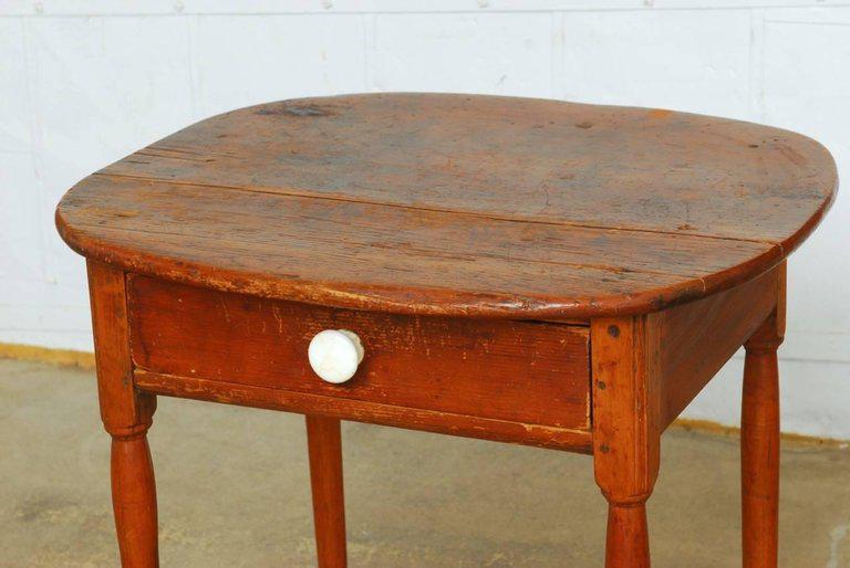 Rustic 19th Century English Pine Farmhouse Table With Drawer For Sale    Image 3 Of 13