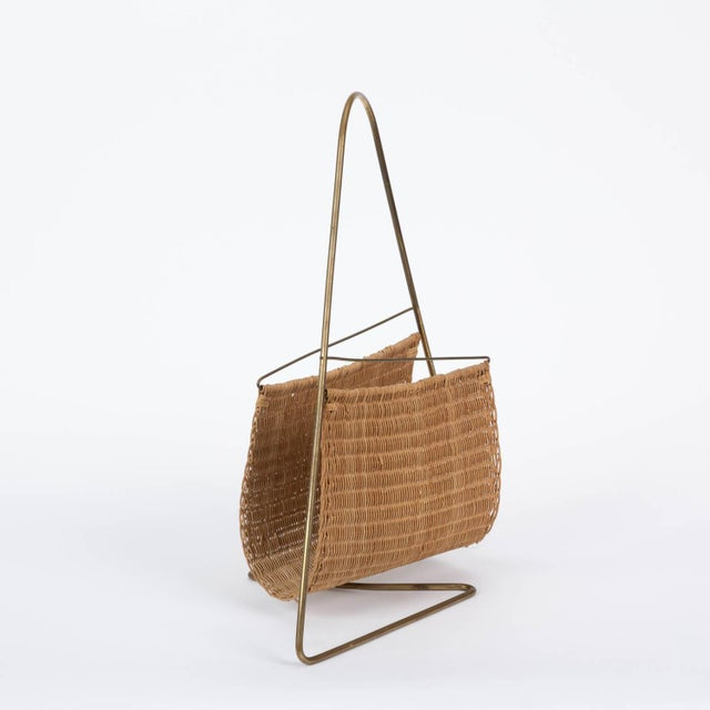 1950s Carl Auböck Attributed Magazine Rack For Sale - Image 5 of 12