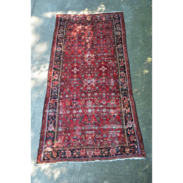 "Persian Distressed Floral Carpet - 9' 4"" X 4' 8"" For Sale - Image 12 of 12"