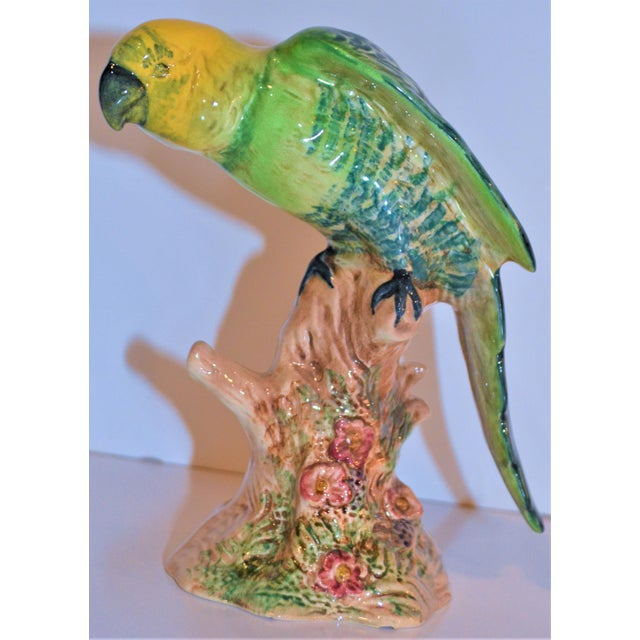 1960s Vintage Beswick English Porcelain Yellow Headed Parrot Figurine For Sale - Image 5 of 7