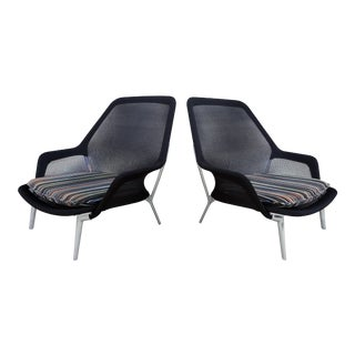 Vitra Slow Modern Armchairs - A Pair