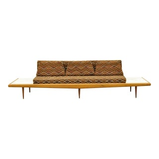 Mid Century Modern Long Gondola Daybed Sofa For Sale