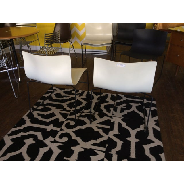 Knoll Vignelli Handkerchief White Chairs- Set of 4 - Image 5 of 6
