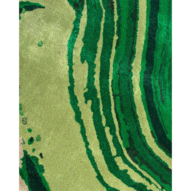 Agatha Emerald Rug From Covet Paris For Sale - Image 4 of 5