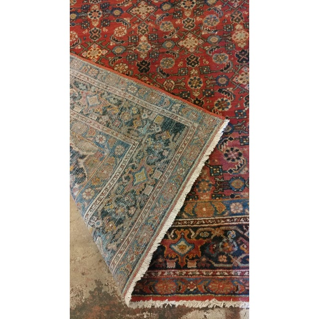 Textile Vintage Persian Sarouk Rug- size 9x10 ft For Sale - Image 7 of 11