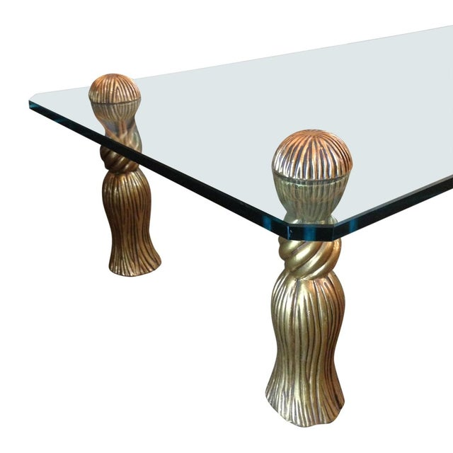 Phyllis Morris Gold Tassel Coffee Table - Image 4 of 4
