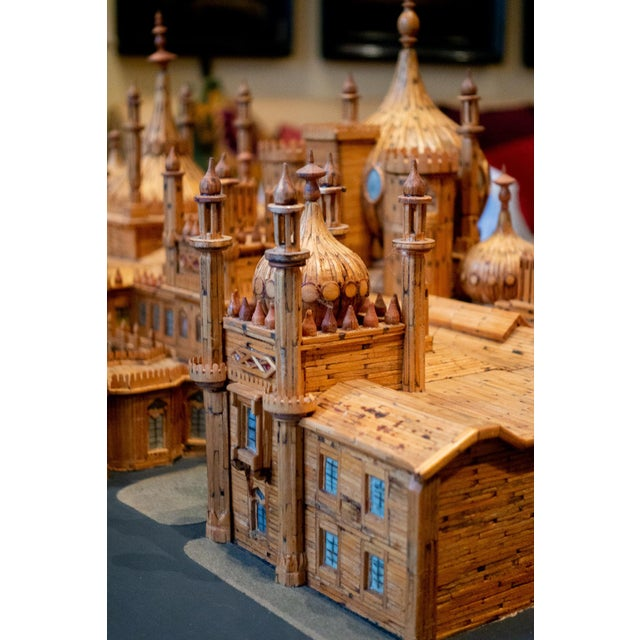 Brown Royal Brighton Pavilion Matchstick Architectural Model by Bernard Martell For Sale - Image 8 of 13