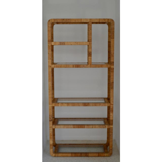 Mid-Century Rattan Bookcase For Sale - Image 10 of 13
