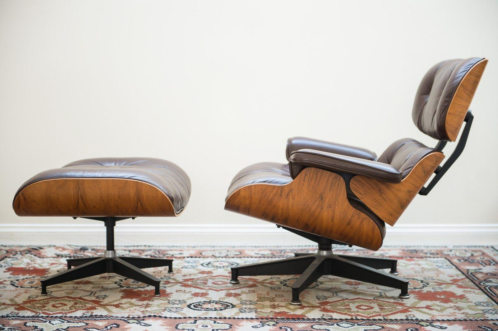 Genial 1976 Charles And Ray Eames 670 Rosewood Lounge Chair And Matching 671  Ottoman Manufactured By Herman