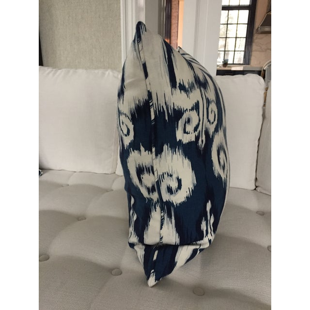 Blue & White Ikat Pillow - Image 3 of 3