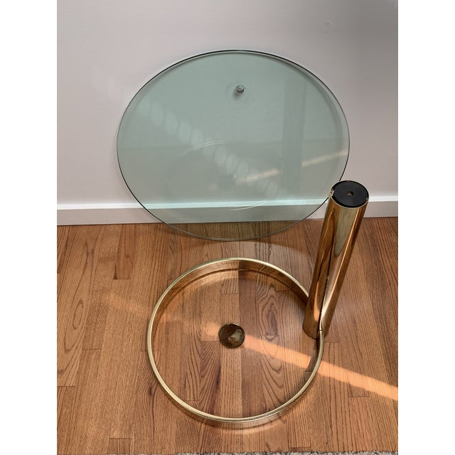 1980s Contemporary Pace Brass and Glass Round Drinks Tables - a Pair For Sale - Image 9 of 13