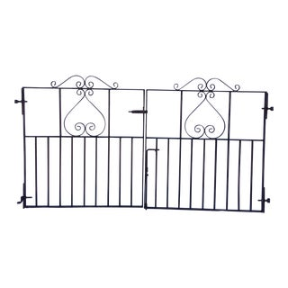 1920's Antique Pair of Iron Gates From Mare Island San Francisco Bay