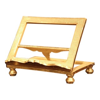 19th Century French Carved Wood Gold Leaf Adjustable Book Stand