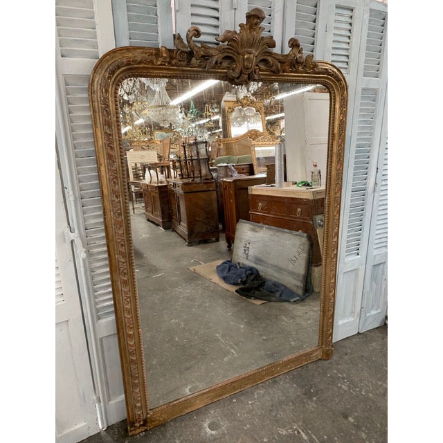 French Provincial 18th Century Grand Louis Philippe Mirror For Sale - Image 3 of 8