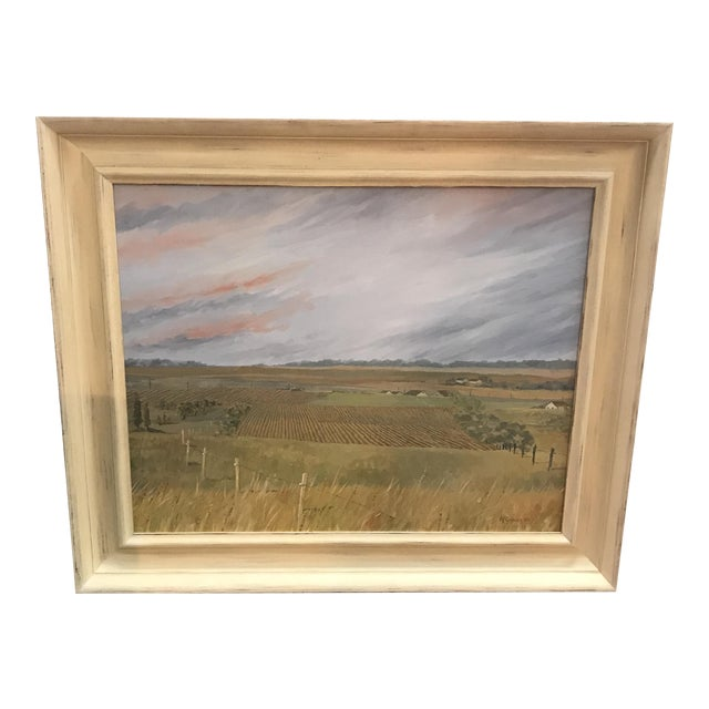 1985 McGuinnis Fall Fields Acrylic Painting For Sale