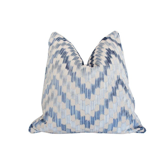 Traditional Ankara Pillow, Pacific For Sale - Image 3 of 3
