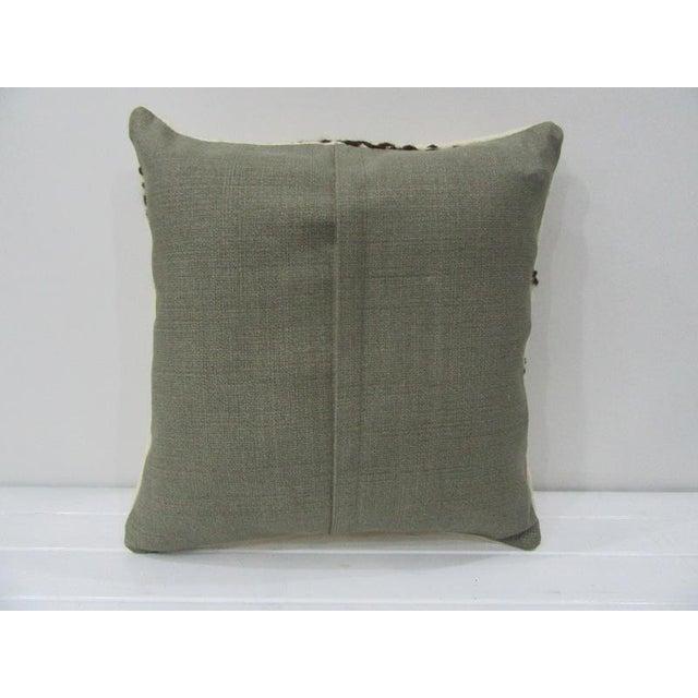 Islamic Vintage Black / White Kilim Pillow For Sale - Image 3 of 4