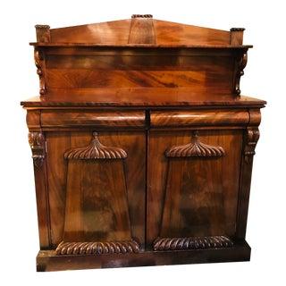 19th Century 19th Century English Mahogany Cabinet For Sale