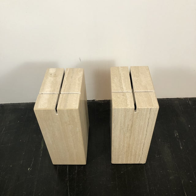 1970s Artedi Italian Marble Side Tables - a Pair For Sale - Image 9 of 13