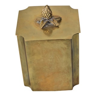Vintage Brass Container For Sale