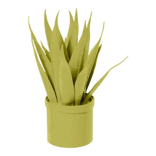Stray Dog Designs for Chairish Mother-In-Law Tongue Faux Plant, Parakeet Green For Sale