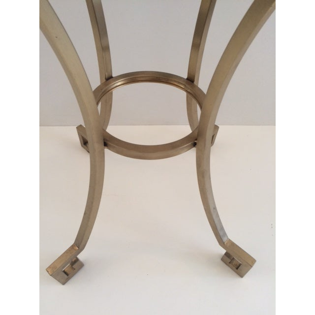 Metal Todd Hase Christelle Gueridon Onyx Top Side Table For Sale - Image 7 of 9