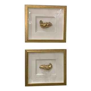 Late 18th Century Vintage Framed Fragments- A Pair For Sale