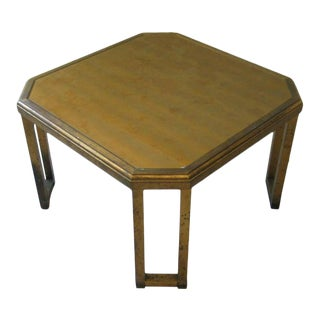 Late 20th Century Octogonal Maison Jansen Coffee Table For Sale