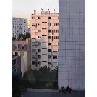 """Hotel View'' Contemporary Cityscape Digital Art Print For Sale"