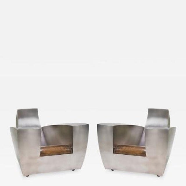 Pair Jonathan Singleton Lounge Chairs For Sale In New York - Image 6 of 6