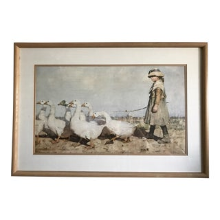 'To Pastures New' Art Print by James Guthrie 1883 For Sale