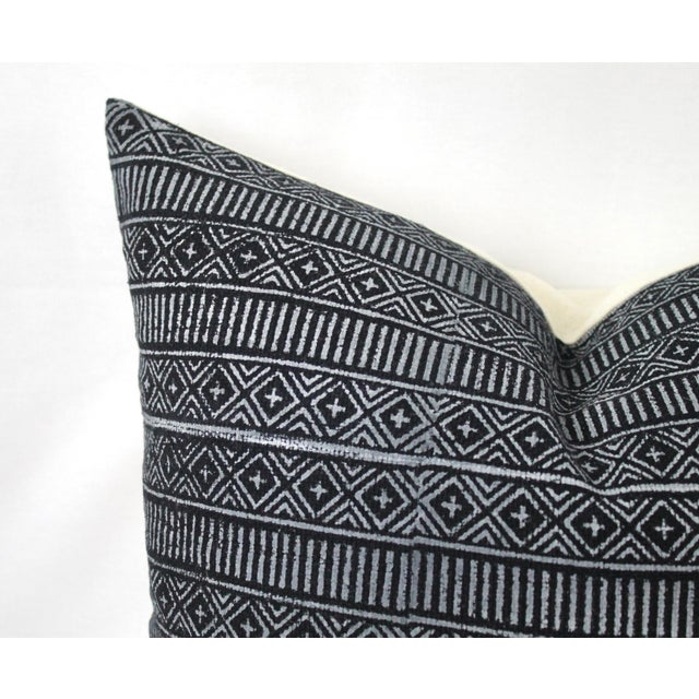 Textile Vintage Geometric Patterned Pillow For Sale - Image 7 of 12