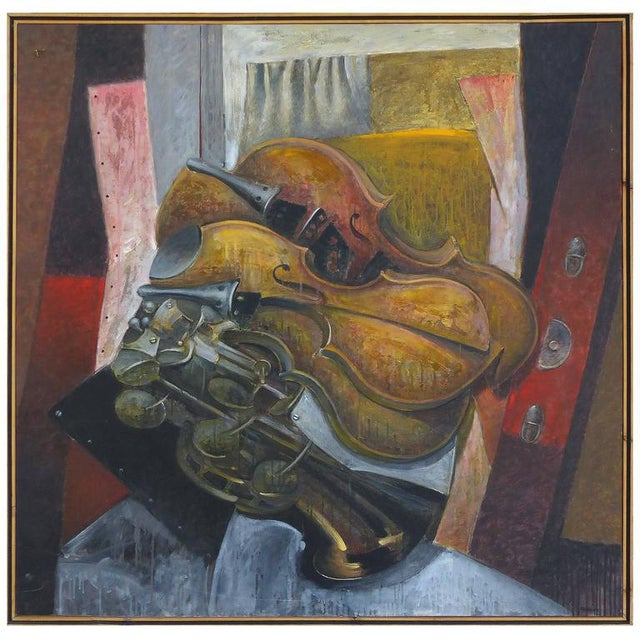 """Impetuous Violinist"", Oil on Canvas by Jesus Marcos For Sale - Image 11 of 11"